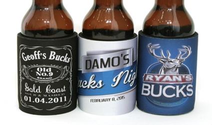 Bucks Party Stubby Holders Sydney